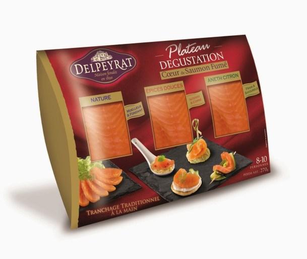 PLATEAU DEGUSTATION DE 3 COEURS SAUMON DELPEYRAT