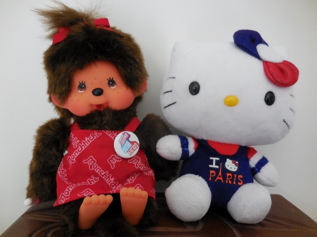 Mes doudous : Monchhichi, Hello Kitty, Furby Boom et Paddington