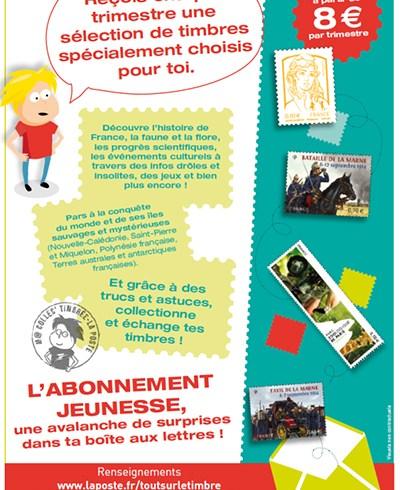 M@ Collec' Timbrée, l'abonnement philatélique jeunesse de La Poste