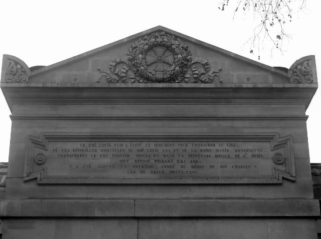 La Chapelle expiatoire du Square Louis XVI