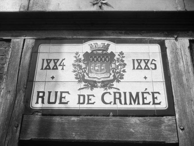 Plaque Rue de Crimée 75019