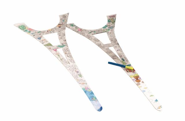 La Tour Eiffel à colorier La Plume de Louise (1)