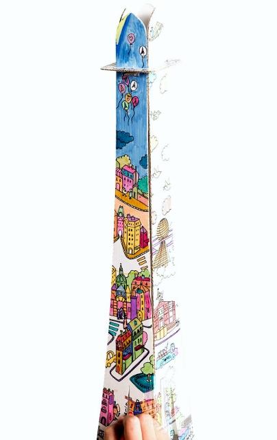 La Tour Eiffel à colorier La Plume de Louise (3)