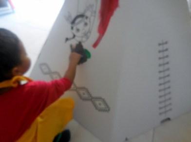 Tipi en carton Wiplii décoration (3)
