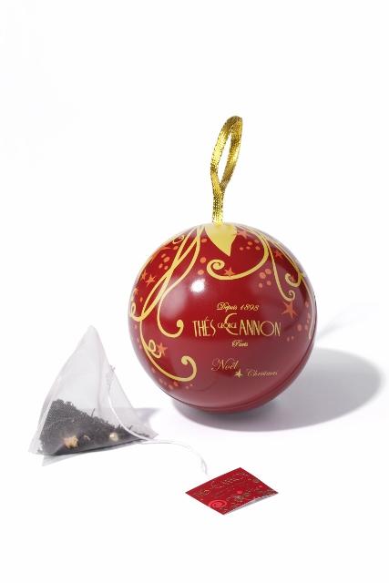 Boules de Noël Thé George Cannon rouge