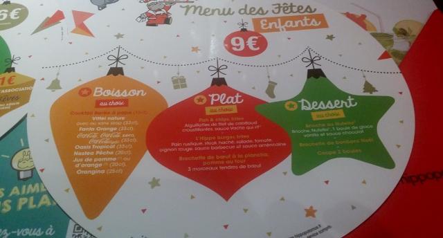 menu des fêtes