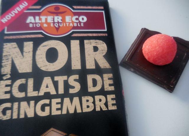 Chocolat Alter Eco Noir Eclats de Gingembre