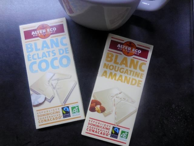 Alter Eco Chocolat Blanc éclat de coco et nougatine amande (1)