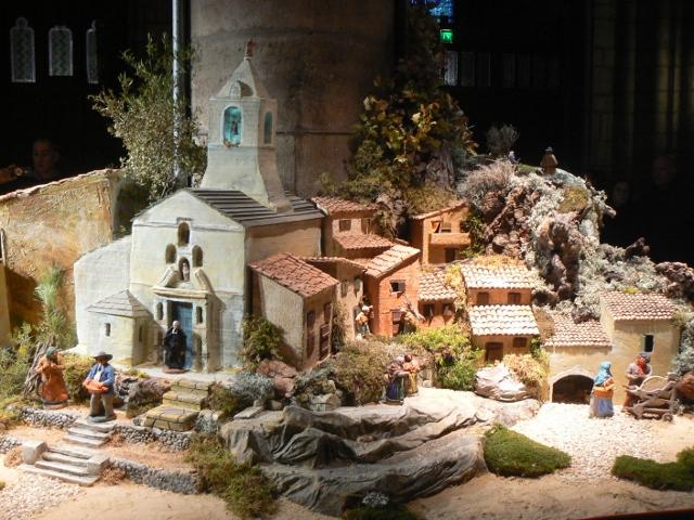 La Crèche provençale de la Cathédrale Notre Dame de Paris
