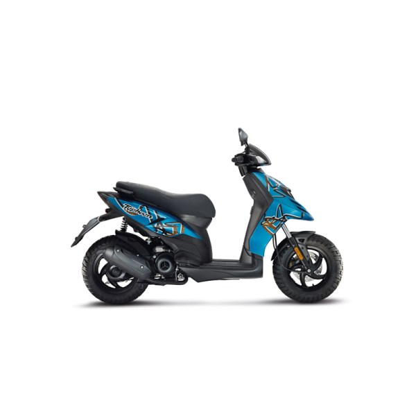 Scooter Typhoon 50 bleu Piaggio Paris Nord Moto