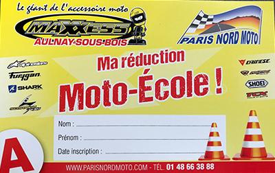 Réduction Moto Ecole Paris Nord Moto