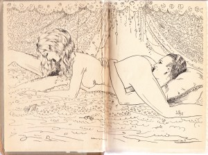 Nunnery Tales 1902 Illustrated Endpapers