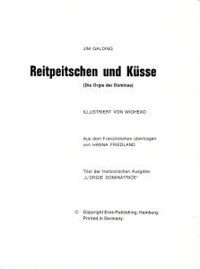 Reitpeitschen un Küsse (Die Orgie der Dominas)
