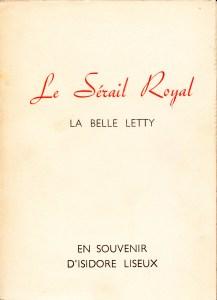 Le Serail Royal La Belle Letty Losfeld_0001