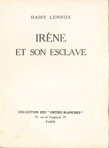 Irene et son Esclave Orties Blanches Davanzo 1933_0002