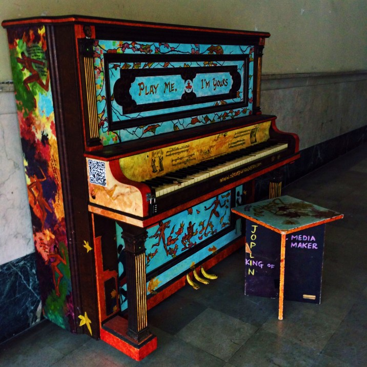 The prettiest piano that sits outside of the Strand Theatre
