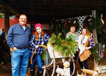 """Our """"Lumber Jack"""" Themed Christmas picture"""