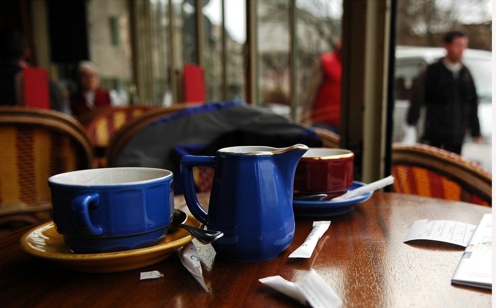 A cafe somewhere in Paris