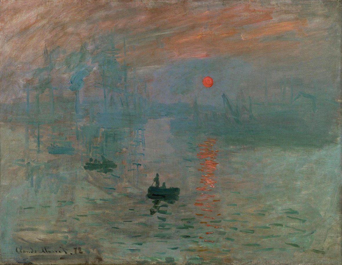 """Claude Monet, """"Impression, Sunrise"""", oil on canvas, 1872. Public domain"""