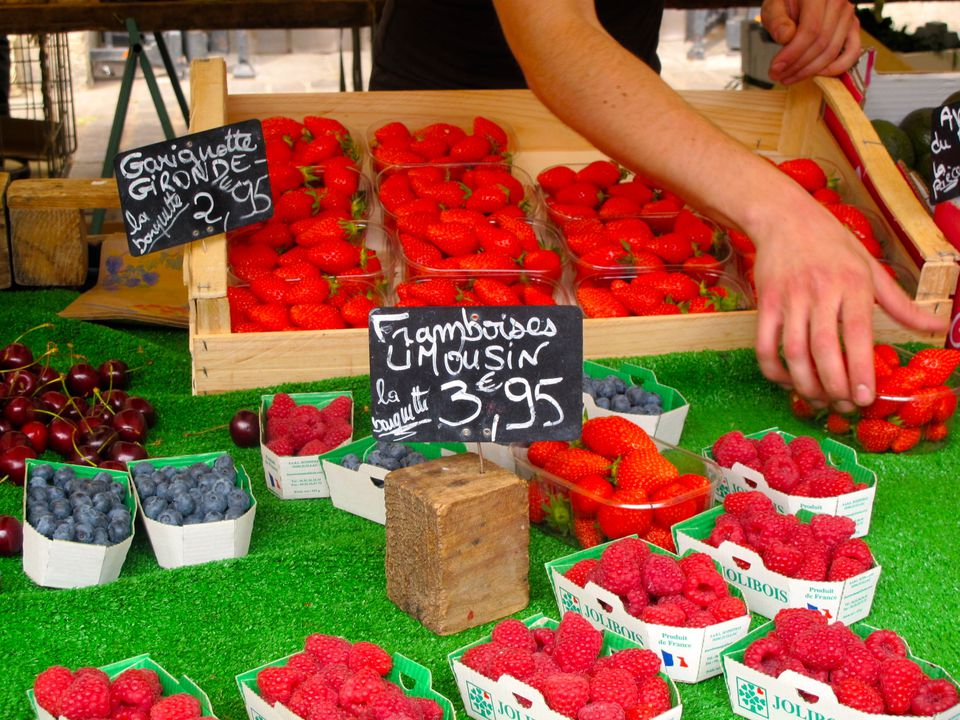 Summer strawberries are sold at the Marché Aligre in Paris, one of the best markets in the city. Image: Courtney Traub