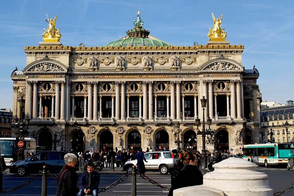 The Palais Opera Garnier in Paris is a stunning example of Haussmann-era architecture. Wikimedia Commons
