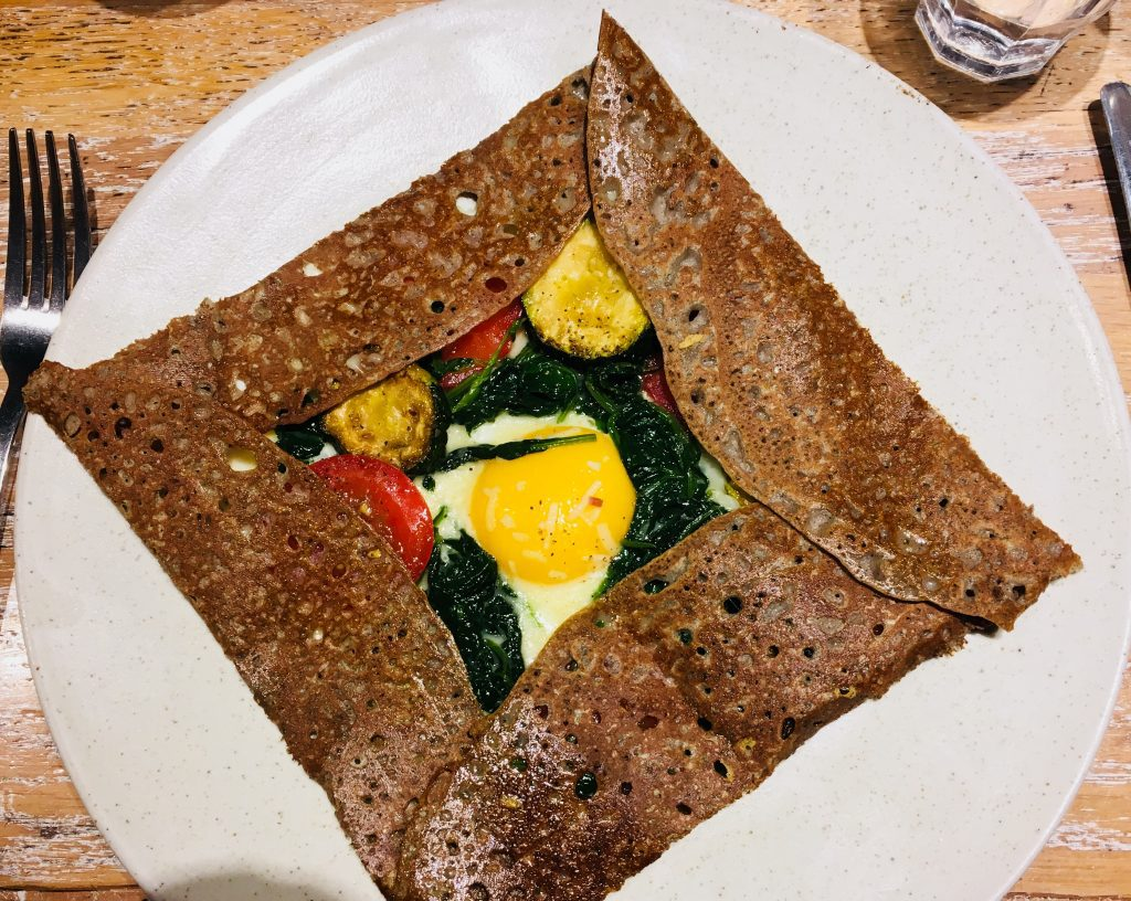 Savory crepe at Breizh cafe in Paris, France. Image: Courtney Traub/All rights reserved.