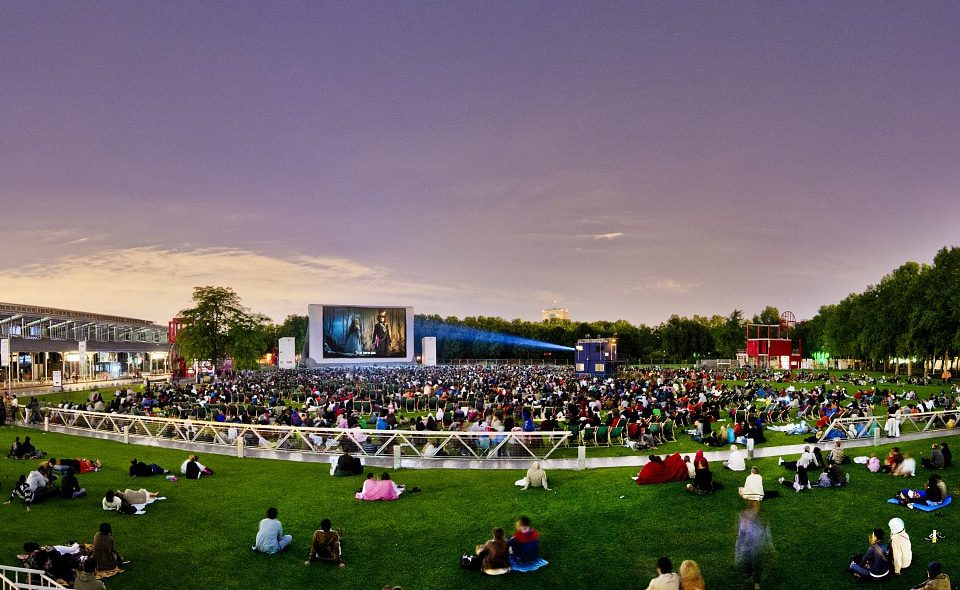 Open-air cinema at La Villette: free and relaxing. Image: Courtesy of La Villette