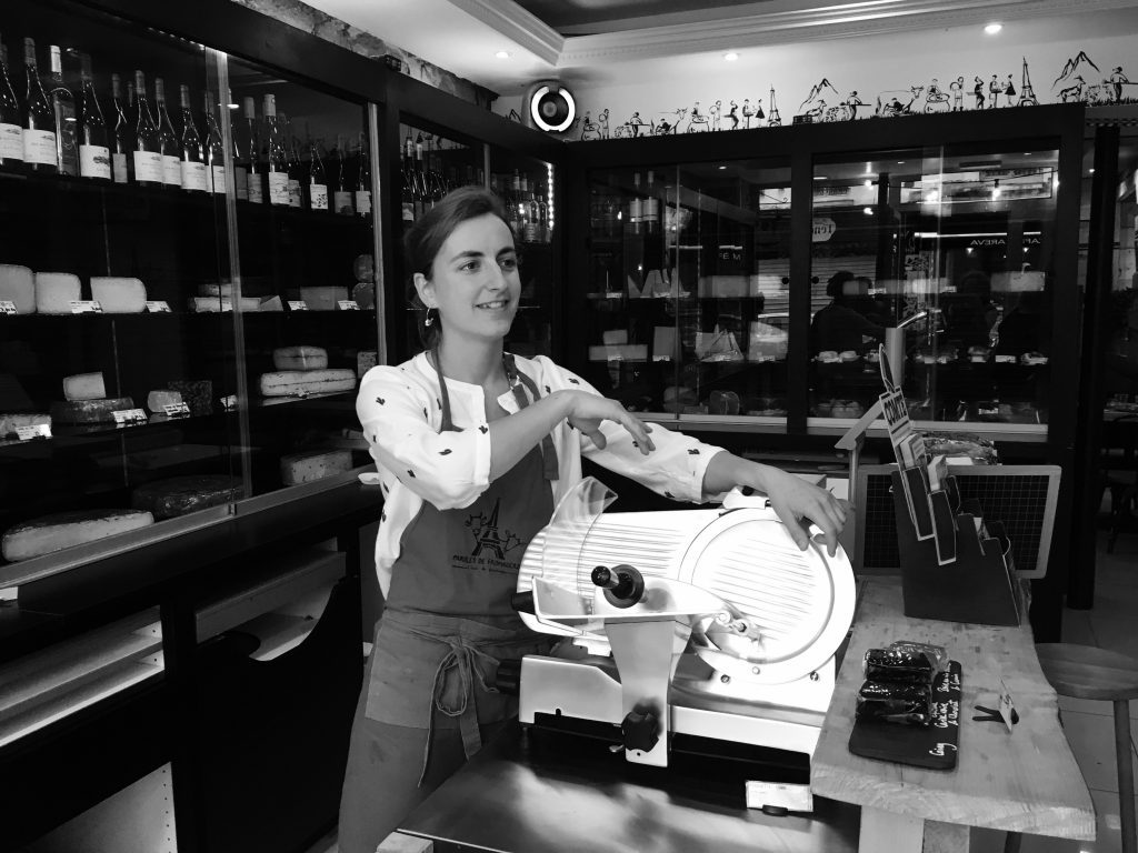 Caroline, co-founder of Paroles de Fromagers, gives us a tour and tasting. Image: Courtney Traub/All rights reserved