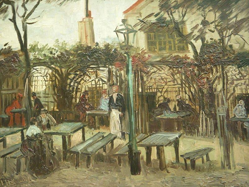 "Vincent Van Gogh, ""La Guinguette"" in Montmartre, October 1886 (Musée d'Orsay/Wikimedia Commons)"