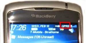 gprs on blackberry