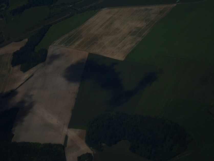 The shadow of a cloud on the French land