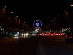 Champs Elysees and the wheel (roue) at Place de la Concorde