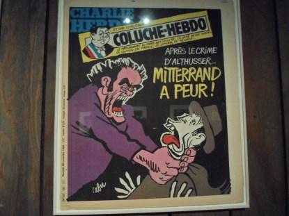 Charlie Hebdo front page: Coluche vs Miterrand....
