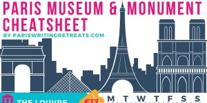 paris museum and monuments cheatsheet