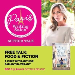 samantha verant author talk at the paris writing salon