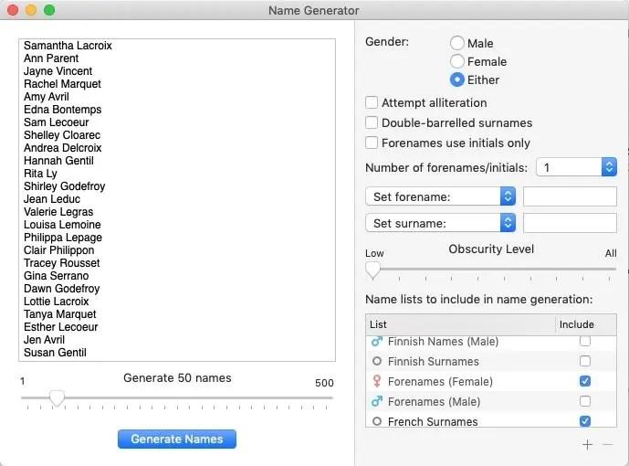 scrivener name generator pws
