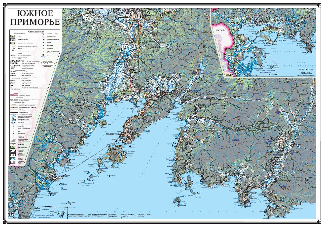 Карта Южного Приморья