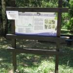 Информационното табло в м. Дендрариума е с подновено лаково покритие