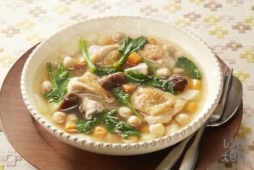 「鶏肉と豆のスープ」の画像検索結果