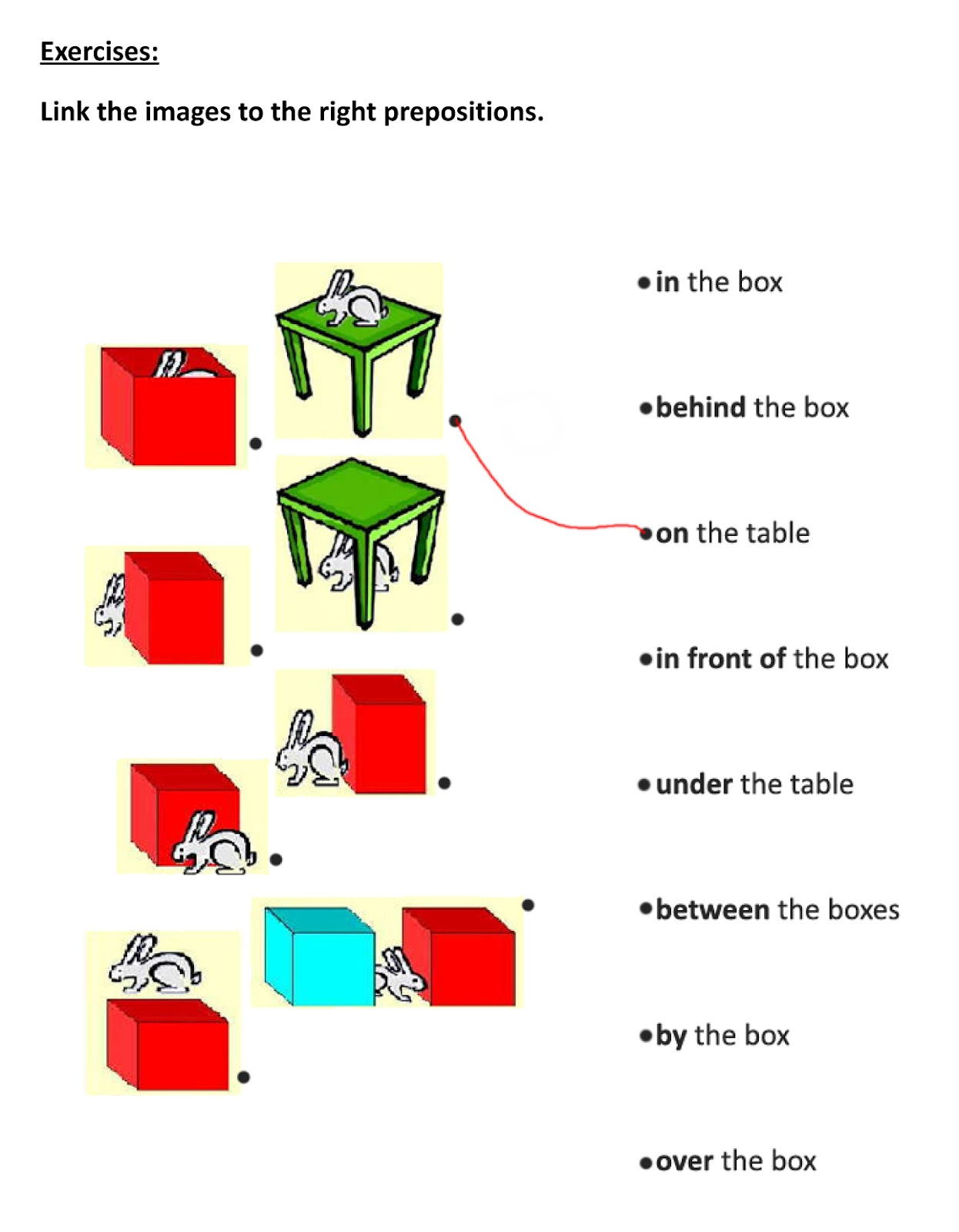 Prepositions Of Time Place And Movement Exercises