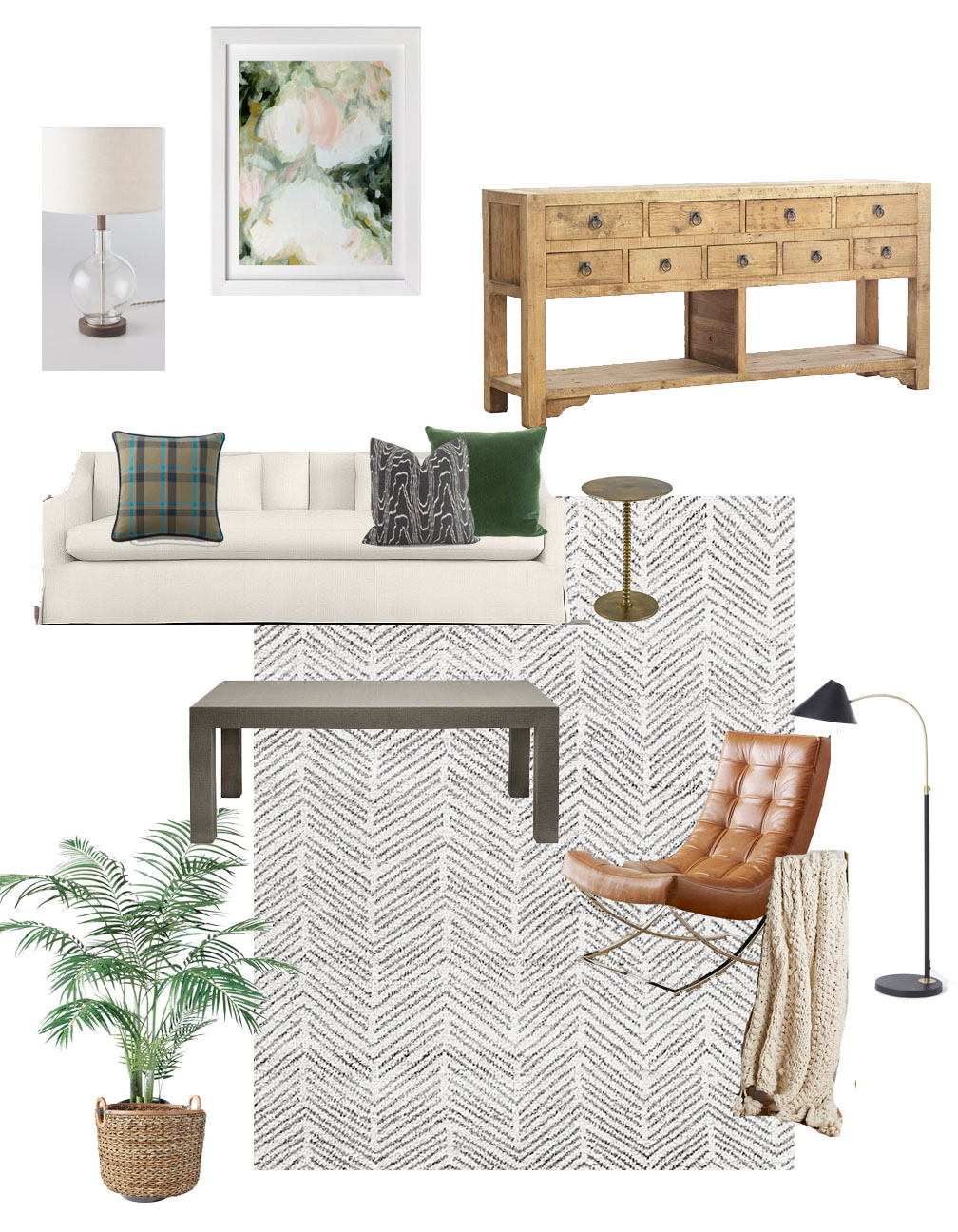... Living Room Design Board. Lamp: Schoolhouse Electric