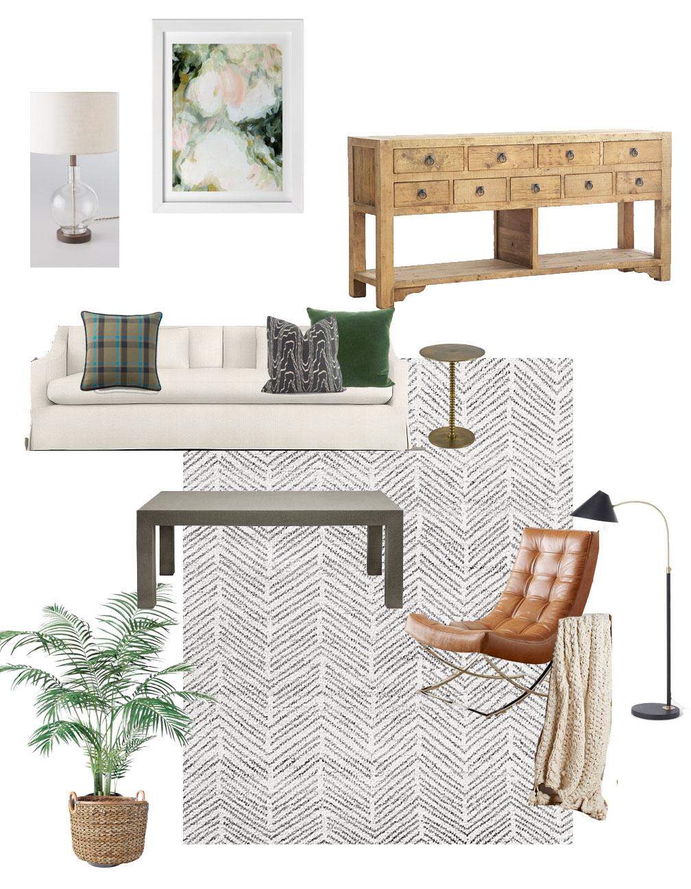 Living room e-design example - Park and Oak Interior Design