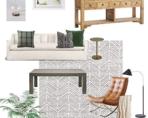 Park & Oak living room design board