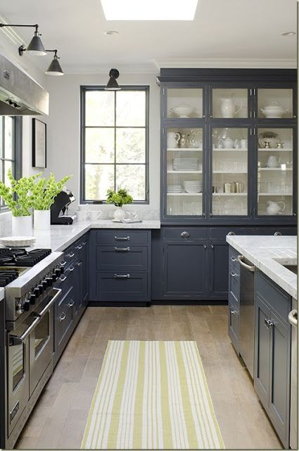 blue kitchen design - Inspiring Kitchen