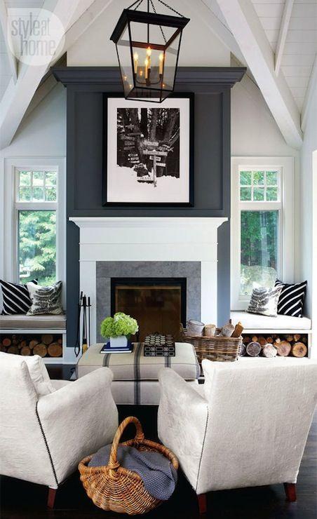 fireplace mantel styling