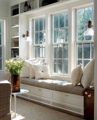 bookshelves around windows & Bookshelves around a window - Park and Oak Interior Design