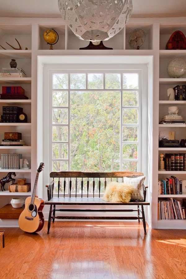 Bookshelves Around A Window Park And Oak Interior Design