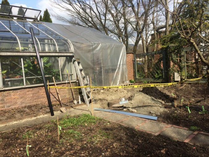 April 1 - Added new downspout to Greenhouse gutter