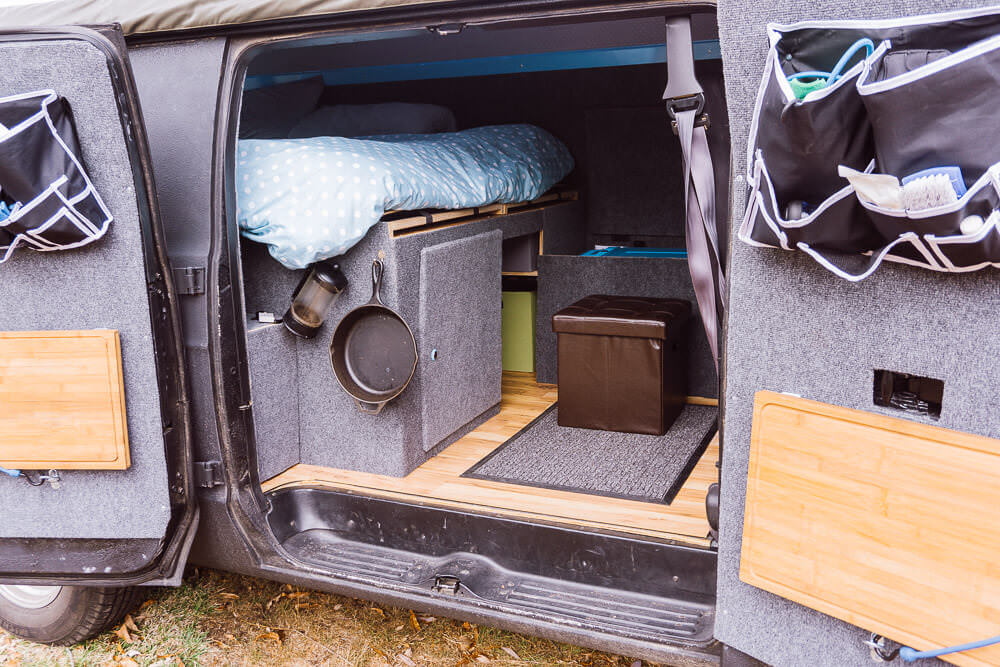 living in a DIY campervan conversion full time