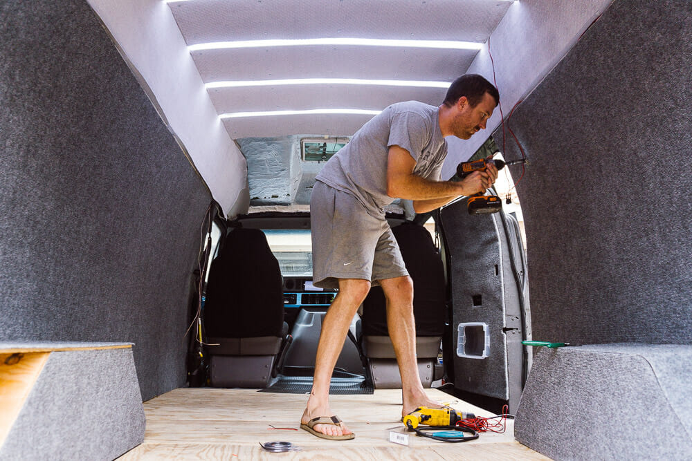 How to wire 12v lights in a campervan conversion or RV